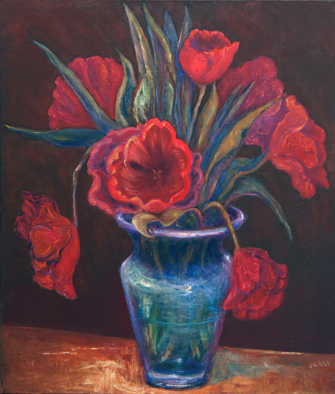 Kukka-asetelma flaamilainen maalaus 2007